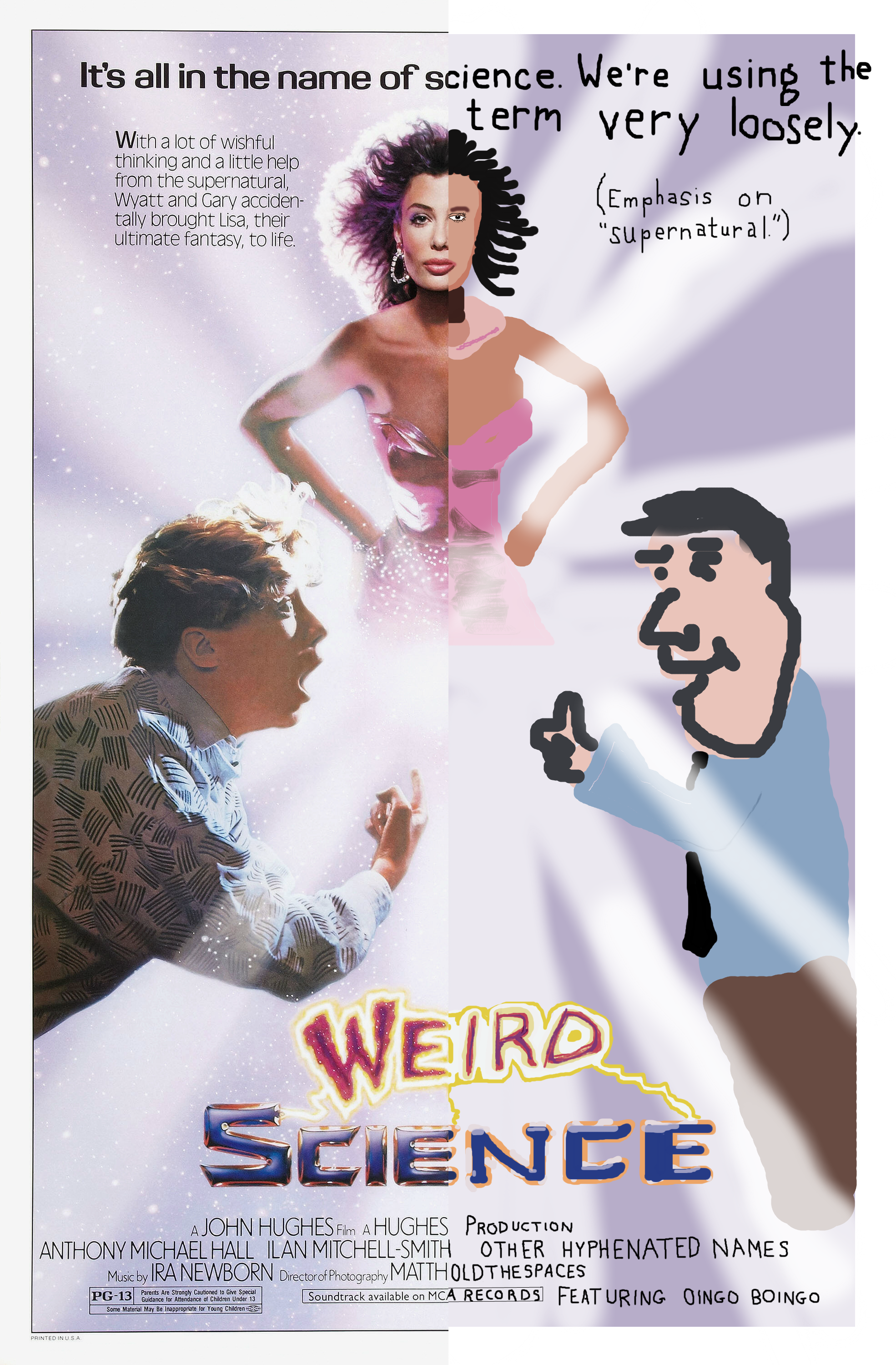 Weird Science Halved Poster