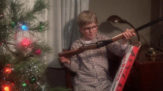 Ralphie Receives Rifle